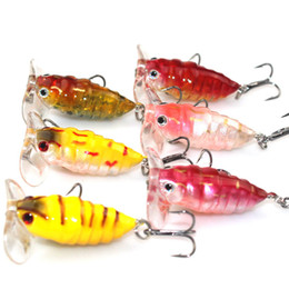 4cm fishing online shopping - Simulated Bait Cicada Shape g cm Fishing Supplies Fishing Lure Colorful Soft Lifelike Elastic Highly Deceptive Sequin Bait hp J1