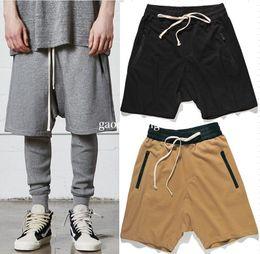 $enCountryForm.capitalKeyWord Canada - 2017 new fashion Mens Zipped Pockets Drawstring Shorts Khaki black gray M-XXL