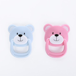 Baby Magnets Canada - Hot -selling lovely reborn supply magnet pacifier  dummy bear pacifier for reborn baby dolls