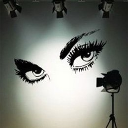 Large waLL decaLs eyes online shopping - 2017 Hot Sexy Eyes Wall Sticker Decals DIY Home Decor Wall Mural Removable Stickers home decoration