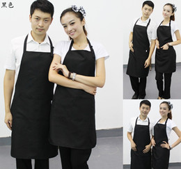 $enCountryForm.capitalKeyWord NZ - hot sale red color 60*85CM 100% polyester classic design work apron kitchen apron with pocket couples apron