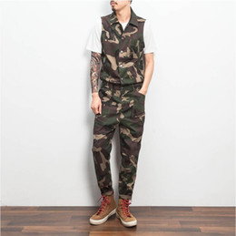 aa2216b4f8a3 Mens Gothic Rompers Fashion Overalls Nice Jumpsuits For Men One Piece  Jumpsuit Camouflage Trousers Mens Rompers
