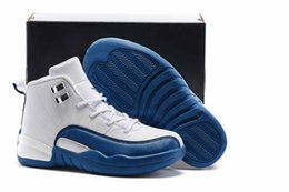 China Free Shipping Kids Shoes 12s French Blue Basketball Shoes Boys Girls Athletic Shoes Children Sports Sneakers cheap patent girls suppliers