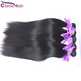 Discount 28inch peruvian straight hair - Straight Malaysian Virgin Hair Unprocessed Human Hair Extensions 1pcs Cheap Straight Malaysian Remy Hair Weave Weft Bund