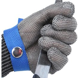 Discount steel cut wire - Wholesale- Work Gloves Cut Proof Stab Anti-cutting Resistant Stainless Steel Metal Mesh Butcher High Performance Protect