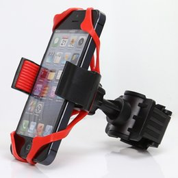 Smartphone Bike Mount Canada - Universal Bike Bicycle Motorcycle Handlebar Mount Holder Cell Phone Holder With Silicone Support For SmartPhone