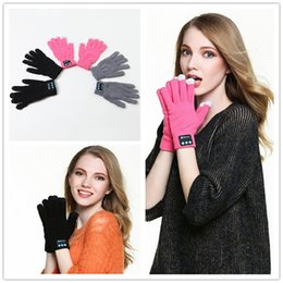 Discount normal mobile phone - Touch Bluetooth Gloves Winter Touch Gloves Knit Gloves Mittens Men For Mobile Phone Wireless Smart Headset Speaker 100pa