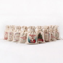 $enCountryForm.capitalKeyWord NZ - Christmas Gift Candy Bags Canvas Santa Sack Drawstring Bags Xmas Decoration Holiday Party Gift Sack Santa Drawstring Bag IC711