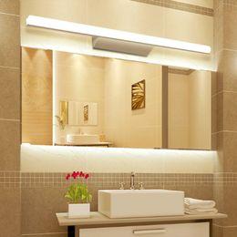 Modern Style Wall Mounted IP65 Waterproof Mirror Light 40CM 54CM 80CM 1M Acrylic LED Bathroom Lamp