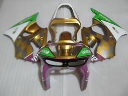 China Top selling bodywork Fairing kit for Kawasaki Ninja ZX6R 1998 1999 gold purple white fairings set ZX6R 98 99 OT21 supplier zx6r gold suppliers