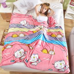 [Gato bonito] 2017 Moda Coral fleece cobertor cobertores de sofá de Viagem Camping Toalhas lençol de garantia de Qualidade bem-vindo atacado venda por atacado