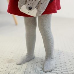 Girl Cotton Tights Canada - Kids pantyhose baby girls grain stripe leggings kids cotton soft tights 2017 spring new girls princess pants children cotton bottoms A0580