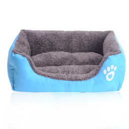 fall bedding UK - Super Soft Warm Washable Pet Kennel Dog Bed House Candy Colored Pet Nest Beds for Fall and Winter camas de perros Dog sofa