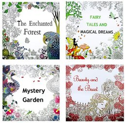 4 style coloring books relieve stress painting books forest dreams beauty and beast for adult and kids - Wholesale Coloring Books