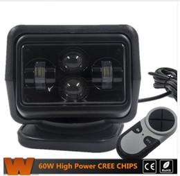 $enCountryForm.capitalKeyWord Canada - I 1Pcs 60W Wireless Led Marine Search Light with Cree Chips LED Search Light Remote Control Spot Light Car LED Work Lights
