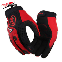 Discount glove pro biker - Wholesale- PRO-BIKER Men Women Breathable Motorcycle Riding Gloves Motocross Racing Gloves Guanti Luvas De Moto Full Fin