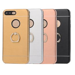 Hot Sales Iphone Case Canada - Phone Cases Luxury Aluminum Metal Ring+tpu Holder Stand Back Cover Case Customized Hot Sale Products for iphone 5 6 7 plus samsung s6 s7edg