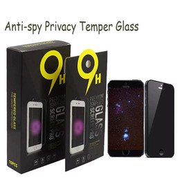 Chinese  For Metropcs Phones Privacy Tempered Glass Anti-Spy Screen Protector For Samsung J3 J7 Prime LG Stylo 3 K10 Moto G7 G5S 10 In 1 Package manufacturers