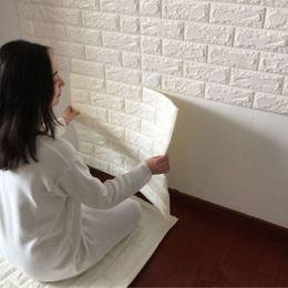 discount white bricks wallpaper living room | 2017 white bricks
