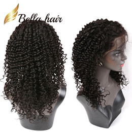 natural wave lace front wig 2019 - Popular Curly Wave Lace Wigs Brazilian Glueless Front Lace Wigs Dyable Natural Color Human Hair Wigs with Baby Hair Free