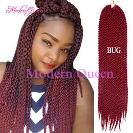 3d Hair Canada - 3D Cubic Twist Crochet Braids 22inch Synthetic braiding hair Cheap Afri Naptural Ombre Havana Mambo Senegalese Twist Hair Extensions