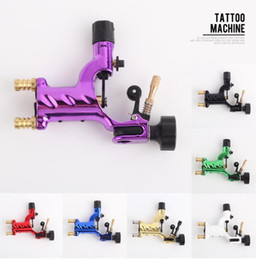 Doublure En Tatoo Pas Cher-Libellule Rotary Tattoo Machine Shader Liner 7 couleurs assorties Tatoo Motor Gun Kits approvisionnement pour les artistes