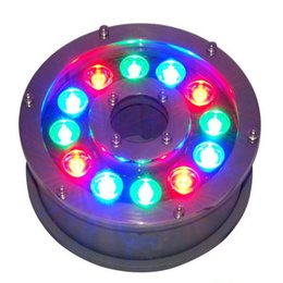 China Underwater Fountain Light LED 6W 9W 12W 15W 18W IP68 LED light swimming pool Lamps RGB LED fountain lights 12V 24V 110V 220V supplier 9w pool suppliers