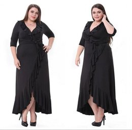 $enCountryForm.capitalKeyWord Canada - Plus Size Evening Gowns 2017 Column V-Neck Black Half Sleeves Sleeves Sheer Mother Groom Formal Dress Special Occasion Long Prom Gowns