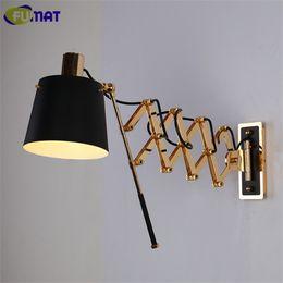 Fumat Flexible Wall Lamps American Vintage Wall Light Fixture Living Room Bar Corridor Sconce Modern Bathroom Wall Lamp