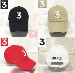 916663dd9603a Embroidered chance the rapper 3 Hat Black Baseball Cap Fashion kanye west  bear dad caps casquette hip hop Strapback sun drake ovo hats