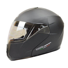 Discount modular helmet visor - Free shipping winter windproof modular BEON flip up motorcycle helmet with dual lens visor ECE approved M L XL size