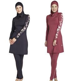 97bc0ff8f2 Muslim Swimwear Islamic Swimsuits For Muslima Covered Swimsuits Burkini  Long Sleeve Beach Wear Plus Size S-4XL Free Shipping