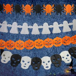 discount wholesale prop skulls halloween party garland pumpkin spider skull witch garland paper garland skull ghost