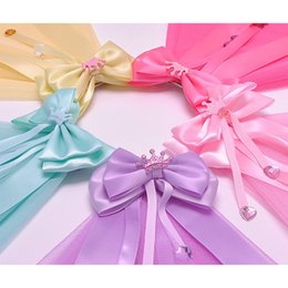 Barato Fitas De Arco De Cabelo Atacado-Atacado moda nova Boutique Cute Grosgrain Ribbon Hair Bow com clipes de cabelo Handmade Children Hair Accessories