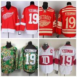 ... Detroit Red Wings Hockey Jerseys 19 Steve Yzerman Jersey CCM Vintage Red  Throwback Camo Winter Classic ... 0945ae28d