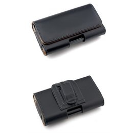 China PU Leather Cover Waist Pouch Case with Clip Belt All Cell Phone Full Leather Cover suppliers