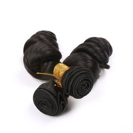 "Discount peruvian remy hair styles - 7A grade hot selling hair style Brazilian Loose Wave Remy Hair Bundles 10"" - 30"" Natural Color 3 Piece 100% Hu"