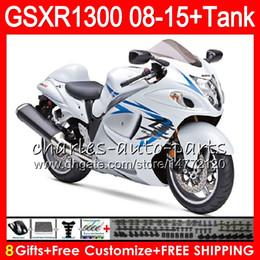 Gsxr fairinG red white online shopping - 8Gifts Colors For SUZUKI Hayabusa GSXR1300 HM50 GSX R1300 Stock white GSXR Fairing Kit