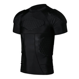 Wholesale Sports Body Protector T shirt Honeycomb Sponge Sport Pads Sportswear Armor For Rugby Basketball Football