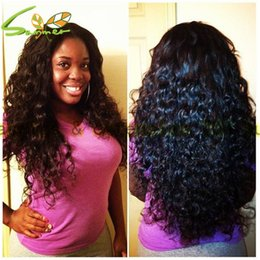 cheap stock lace wig NZ - Cheap Deep Wave Human Hair Lace Front Wigs Black Women Brazilian Virgin Hair Glueless Full Lace Front Wigs With Baby Hair Stock