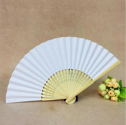 $enCountryForm.capitalKeyWord Australia - party Wedding Favors Gifts Solid Candy Color Paper Bambo Fan Cloth Wedding Hand Folding Fans+DHL Free Shipping