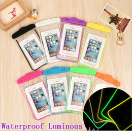 $enCountryForm.capitalKeyWord Australia - Waterproof Phone Case Bag Pouch Luminous Phone Cases For For Universal water proof cases all Cell Phone free shipping