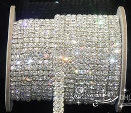 Clear trim online shopping - Wedding Jewelry Row ss16 clear crystal rhinestone trims close chain silver yard