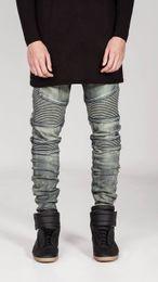 $enCountryForm.capitalKeyWord Canada - Wholesale-2016 STYLISH Mens Slim Fit Jeans Fashion Mens Designed Straight Slim Fit Biker Jeans Pant Denim Trousers mens biker jeans Bronze