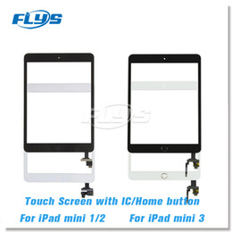 ipad mini home button flex cable 2020 - For iPad mini 1 mini 2 mini 3 Touch Digitizer Screen With IC & Home Button Flex Cable and Adhesives pre-installed Free D