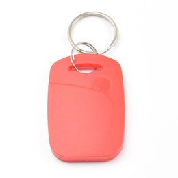 $enCountryForm.capitalKeyWord UK - 100pcs lot RFID key fobs 13.56MHz proximity ABS key ic tags Token Ring nfc 1k china Fudan S50 1K chip blue