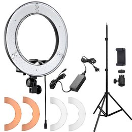 video ring 2018 - Youtuber LED Ring Light Panel Including Light Stand Inner 235mm Outer 345mm Make Up Lights White Lighting Dimmable Light