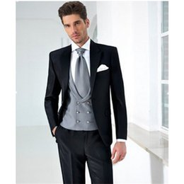 $enCountryForm.capitalKeyWord Canada - Classic high-quality light gray Slim fit for men and groom wedding suit tuxedo 2 fine workmanship (coat + pants) made to order