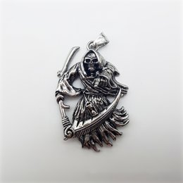 Grim reaper jewelry online shopping grim reaper jewelry for sale animation film surrounding stainless steel grim reaper pendant animation film surrounding mens pendant souvenir pendant necklace jewelry mozeypictures Image collections