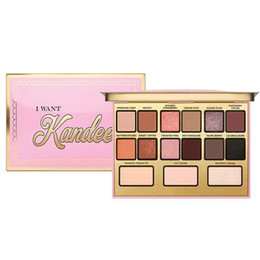 long lasting eyeshadow palette UK - New Makeup Brand I Want Kandee Candy-Scented Eyeshadow Palette Limited Edition 15 Colors Eyeshadow Palette DHL shipping